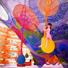 Crochet playground constructions of Toshiko Horiuchi in Japan